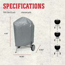 """BBQ Grill Cover Weather Resistant For 22"""" Weber 7176 Charcoal Kettle"""