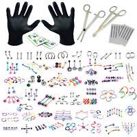 BodyJ4You 156PC Body Piercing Kit Lot 14G 16G Belly RingTongue Tragus Jewelry