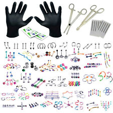 BodyJ4You 156PC Body Piercing Kit Lot 14G 16G Belly RingTongue Tragus Jewelry
