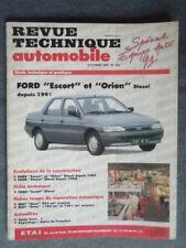 Revue Technique FORD ESCORT et ORION Diesel depuis 1991 Berlines, Break, Clipper
