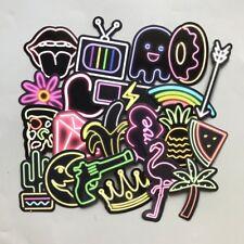 US SELLER, 21 neon lights vinyl stickers penny board skateboard decal