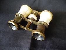 Ancienne Paire de Jumelles de théatre réglable en laiton et composition