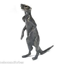Solid Bronze Meerkat Sculpture Meerkat Archie by Jonathan Sanders