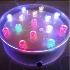 Vase Base Round Light - 15 Bright LEDs Wedding Event Centrepiece Table Display