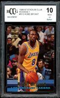 1996-97 Stadium Club Rookies 1 #R12 Kobe Bryant Rookie Card BGS BCCG 10 Mint+