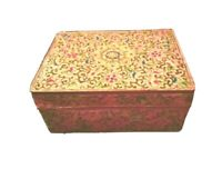 Antique Chinese Cloisonne Enamel  Box 18c Qing Dynasty Pink Famille Rose Ground