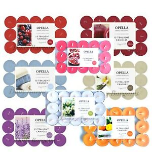 NEW scented tea lights pack of 15 various scents candles tealights Fast Post