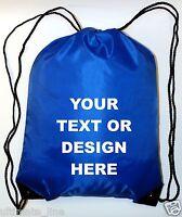 Personalised Royal Drawstring Bag Sack Gym PE Swim Gym  School Print Waterproof