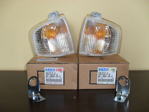 Ford Escort Mk4 RS Turbo XR3i CLEAR WHITE INDICATORS NEW PAIR