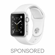 Apple Watch Series 3 42MM Silver Stainless Steel Cellular White Band  MTF02LL/A