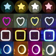 #LED Night Light Mini Cute Wall Plug-in Auto Sensor Bedside Lamp For Bedroom
