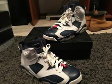 Air Jordan Retro 6 VI Olympic -White/Navy/Red - Size 11 - REDUCED PRICE