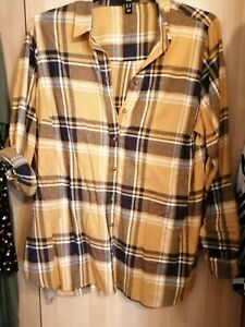 Ladies Long Checked Shirt Size 20 new look
