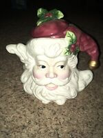 Rare Fitz & Floyd Holiday Santa Claus Christmas Teapot Tea Pot X-mas Home Decor