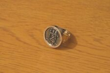 St Christopher Ring Rhodium-Plated Gift Friend Mum Dad Daughter Safe Travel Gift