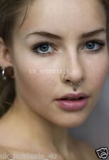 Tiny Silver Nose Hoop Ring Stud 6mm 8mm 10mm Cartilage Piercing 316L Steel