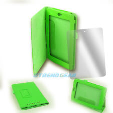 CASE COVER+SCREEN PROTECTOR STAND FOLD PU LEATHER GREEN FOR GOOGLE ASUS NEXUS 7""