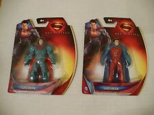 2013 DC SUPERMAN ACTION FIGURES- 2 DIFFERENT IN THE ORIG BLISTER PACKS - NICE!
