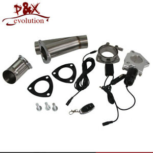 """3"""" Exhaust Catback Downpipe Cutout E-Cut Valve Electric +Switch Control system"""