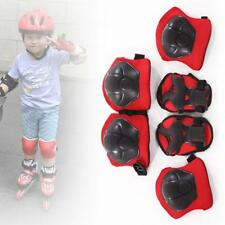 New Kid 6pcs Skating Protective Gear Children Knee Elbow Pads Set Black & Red MT