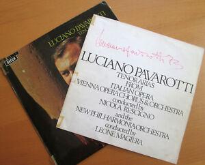 SXL 6498 Pavarotti SIGNED AUTOGRAPHED Tenor Arias From Italian Opera Decca LP