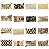 Soft Pillow Cover Sofa Waist Throw Cushion Cases Car Bed Home Decor 30*50cm