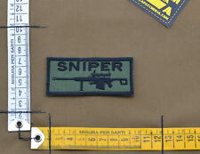 """Ricamata / Embroidered Patch """"Sniper"""" OD with VELCRO® brand hook"""