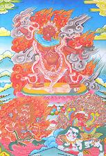 "32"" BLESSED SCROLL TIBET THANGKA Ekajati Rahula Dorje Legpa of Nyingma Protector"