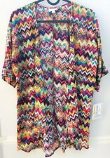 LuLaRoe Bianka Kids 3 Cover Up Chevron Pink Orange Yellow Black Blue Purple