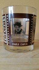 "Roaring Twenties Collectors Glass ""Charlie Chaplin, John Barrymore, Clara Bow """