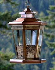H Potter Large Metal and Glass Hanging Wild Bird Seed Feeder 523