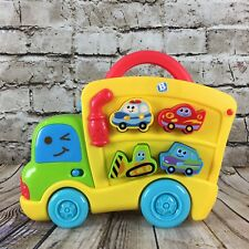 Blue Box B Kids Truck Car Carrier Puzzle with Sounds Devolpmental Toy