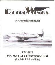 RetroKits Models 1/144 MESSERSCHMITT Me-262C-1a Resin Conversion Kit