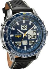 Accurist Skymaster Mens Blue Dial Black Strap Watch 7112 RRP £174.99
