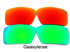 Galaxy Replacement Lenses For Oakley Big Taco Green&Red Polarized 2Pairs