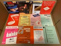Lot of 10 Music Sheet Choral Lessons Chord Song Guitar Piano Book Set RANDOM Mix