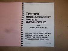 TRIUMPH TR7T TIGER T140E BONNEVILLE TR65 PARTS BOOK MANUAL 1982 - TP54 99-7507