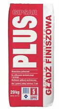 Gipsar Plus 20kg Fine Plaster Fine Body Filler reinforced plaster Mass Putty