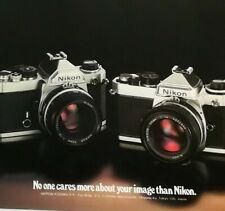 Nikon FE & FM Print Ad Advert Genuine Original Vintage 1980 304EA