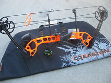 "NEW G5 Quest RADICAL Bow ORANGE PACKAGE RH 17 to 70# 17.5 ""/ 30"" W/ EASTON CASE"