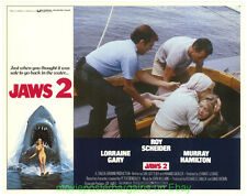 JAWS 2 LOBBY CARD 11x14 Inch size MOVIE POSTER Full Set of 4 Cards ROY SCHEIDER