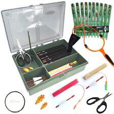 POLE FISHING TACKLE BOX SET. BUNGS ELASTICS POLE RIGS MATCH