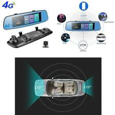 4G 8'' 1080P Car DVR Dash Cam Touch Adas Rearview Monitor Dual Lens Android 16GB