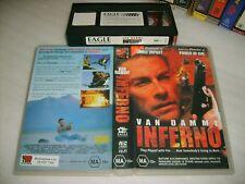 INFERNO : JEAN-CLAUDE VAN DAMME Rare 1999 Australian Eagle Home Video Vhs Issue!