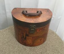 Decorative Lined Storage Box with Handle & Latch -Vintage Look-Hide Toilet Paper