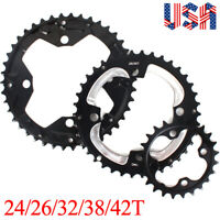 24/26/32/38/42T Double/Triple 104/64BCDmm Chainring Crankset Sprocket MTB Bike