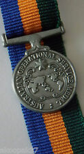 OPERATIONAL SERVICE MEDAL BORDER PROTECTION MINIATURE WITH 10CM RIBBON