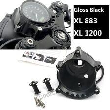 Black Cafe Gauge & Headlight Mount for Harley Sportster IRON XL883 1200R Nightst