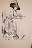 GIBSON GIRL 1909 COLLIER'S MAGAZINE ARTISTS' PROOF No. 12 The Rendezvous