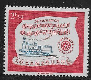 Luxembourg Scott #356, Single 1959 Complete Set FVF MH